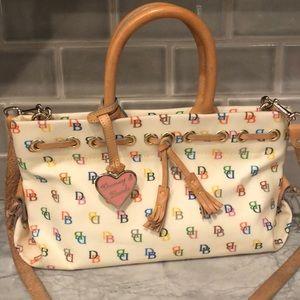 Vintage Dooney & Bourke Heart Rainbow Cream bag